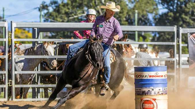 TOUGHEST COWGIRL: Veronica Coulter has recovered remarkably well from her crash, but has a long way to go before she's riding again.