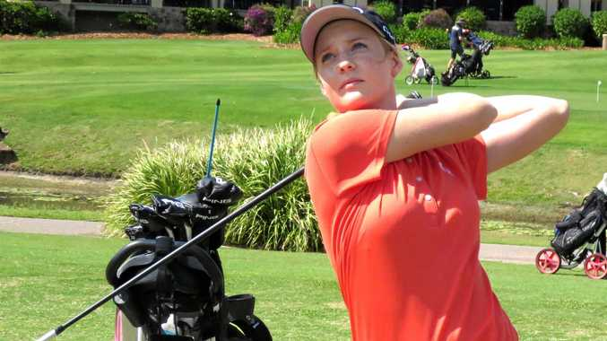 IN FORM: Cassie Porter from Peregian Springs will tee off at the Vic Open today.