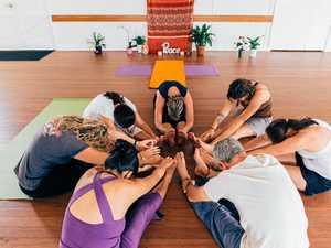 Linda's promoting wellness with yoga