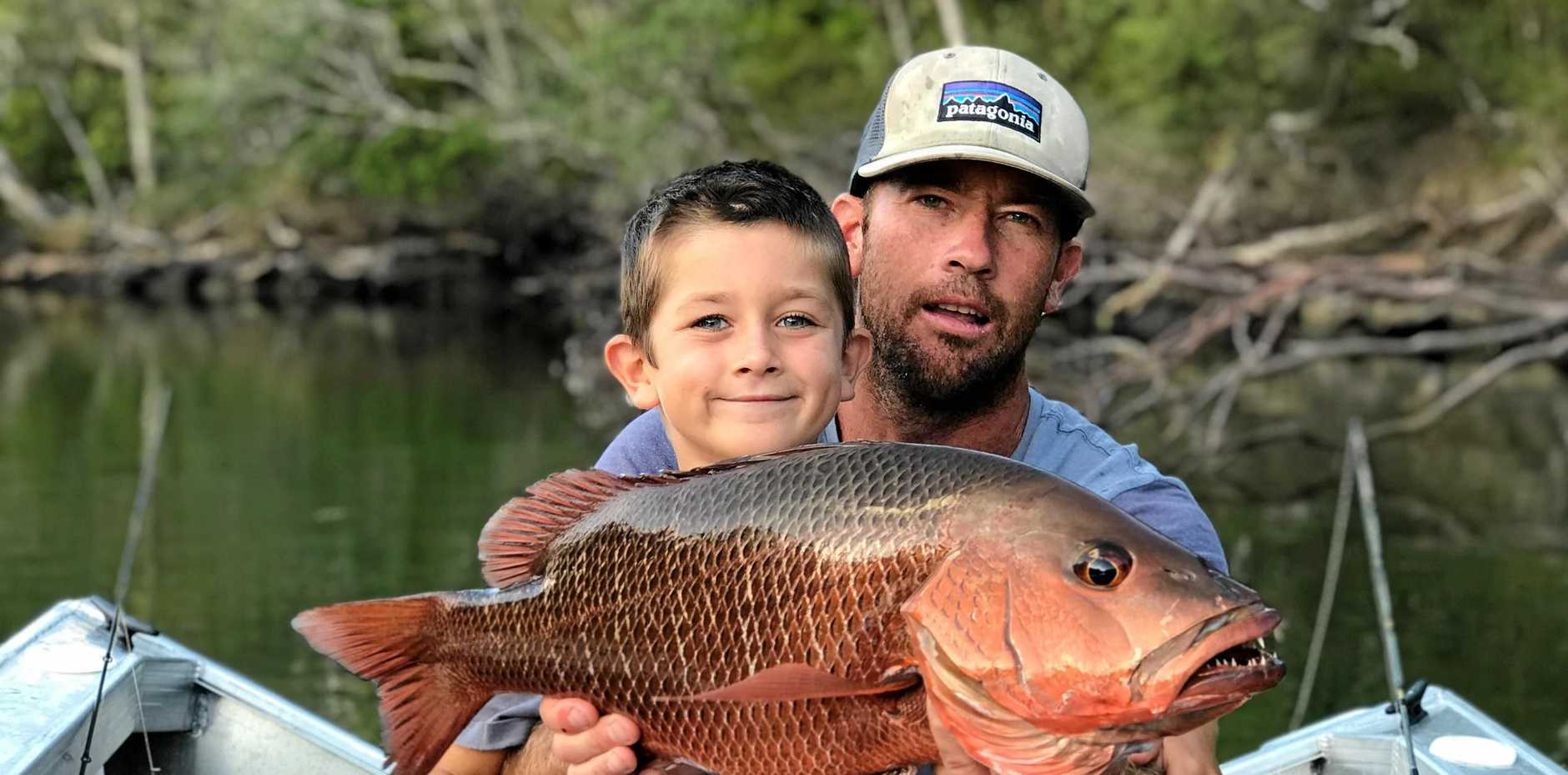 TOP CATCH: Budding Yamba angler Reef Ives hauled in this 3kg mangrove jack while out fishing on the Clarence River with dad Todd. Reef found his way on to the Fish of the Week table after weighing it in at the BP Bait Place in Yamba.