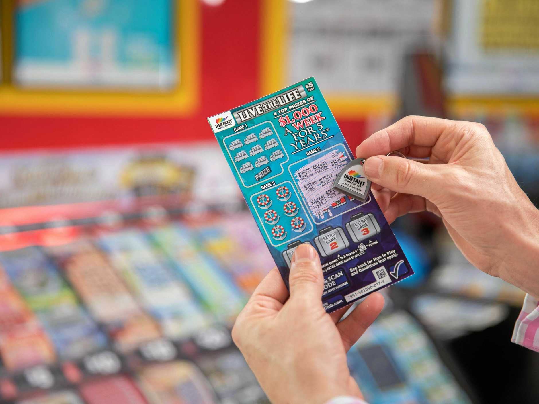 The man, who does not want to be named, won $5000 a week for five years on a $15 Live the Life Platinum Instant Scratch-Its ticket.