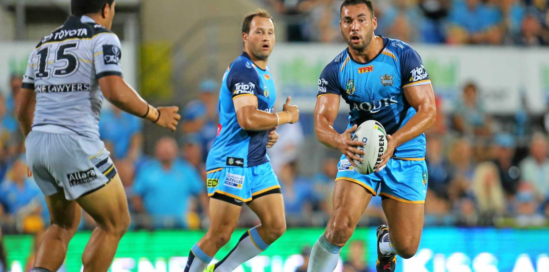 DRAWCARD: Gold Coast Titans captain Ryan James in action for the club during the Round 4 NRL clash against the North Queensland Cowboys last season.