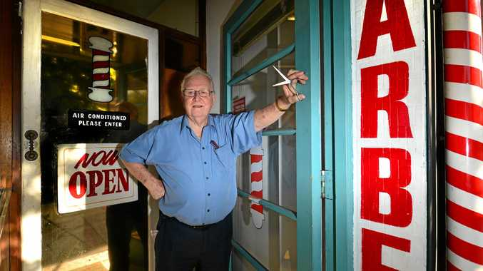 THANKS FOR EVERYTHING, KEITH: Keith Lipke was in business as a barber in Nambour for 60 years but has now retired.