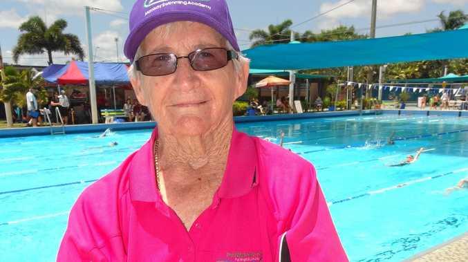 Mackay swimming coach Pat Wright.
