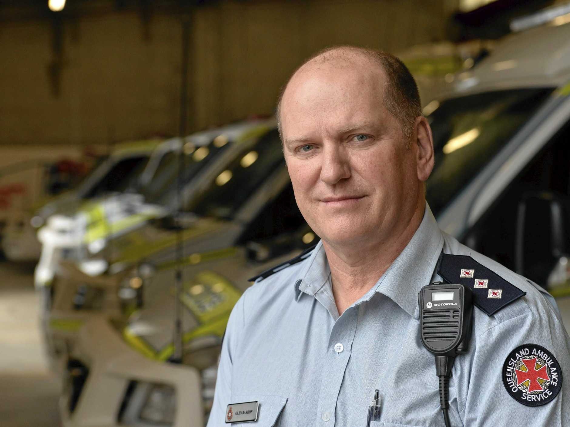 TAKING ACTION: Queensland Ambulance Service senior operations supervisor Glen Barron says it's important to educate young people about the dangers of swimming.