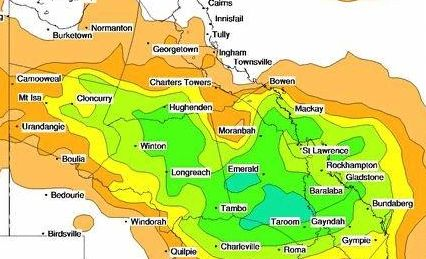 BoM is forecasting good rain for CQ this weekend.