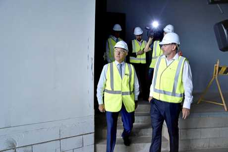 The PM tours the Pulse Data Centre's corridors, not Canberra's.