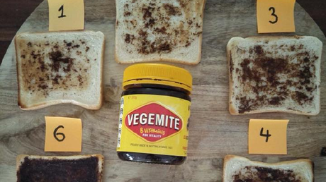 Coast FM's Monkey and the Big Fella have asked their listeners to respond to one of life's big questions: just how much Vegemite should you put on your toast? Image: Facebook/Monkey & the Big Fella
