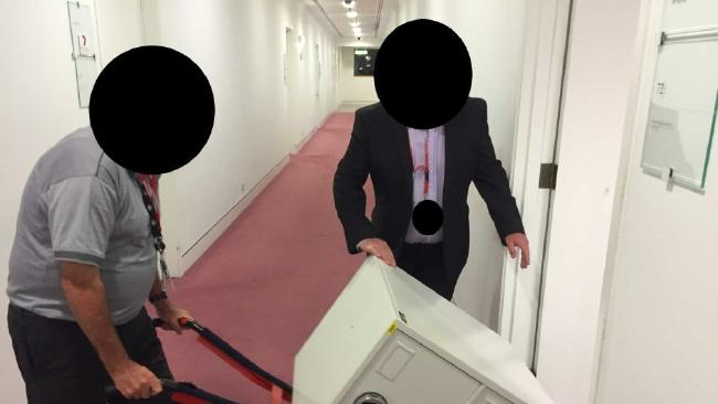 ASIO secures cabinet files at ABC offices in Canberra and Brisbane. Picture: ABC News