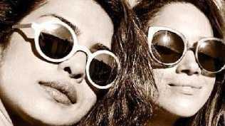 Meghan Markle and her BFF Priyanka Chopra. Picture: Instagram