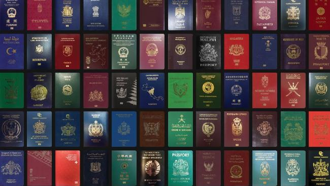 Passports. We all know what they do, but do we all know what their colours mean? Picture: Passport Index