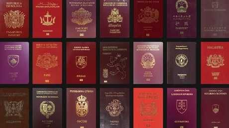There are many interpretations of red. Picture: Passport Index