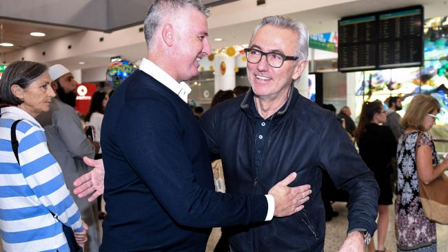 Van Marwijk arrived in Sydney on Thursday morning.