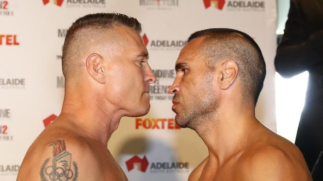 Danny Green says Brendan Fevola's claim that he is mates with Anthony Mundine are false. Picture: Sarah Reed