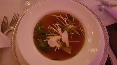 One of the dishes served at the tasting.