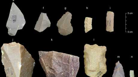 A sample of artefacts from the Middle Palaeolithic era found at the Attirampakkam archaeological site in southern India. Picture: Kumar Akhilesh