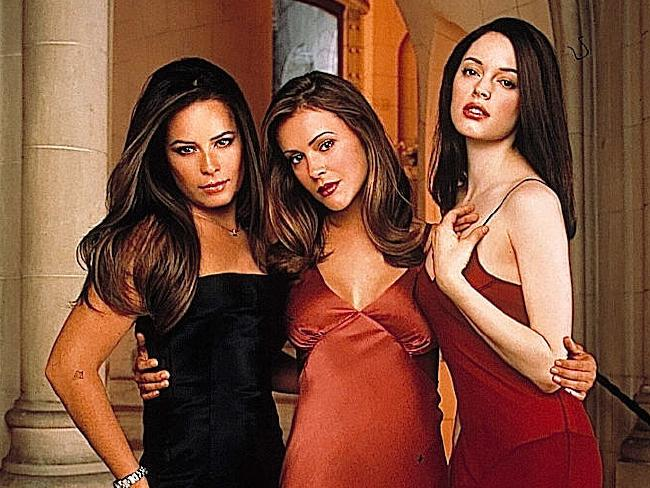 Holly Combs, Alyssa Milano and Rose McGowan in Charmed.