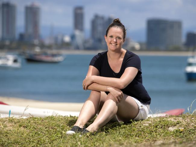 Cancer survivor Caylie Saunders has refused to let the diagnosis define her life. Picture: Nigel Hallett