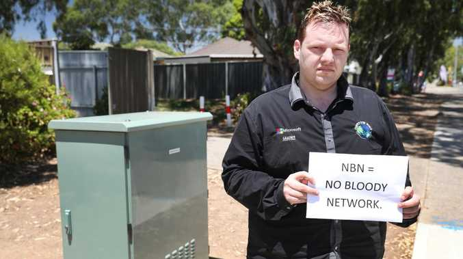 Compute Your World business development manager Kieran O'Rourke, whose company is trading at a $20,000 loss since the NBN was rolled out three months ago. Picture: AAP/Dean Martin