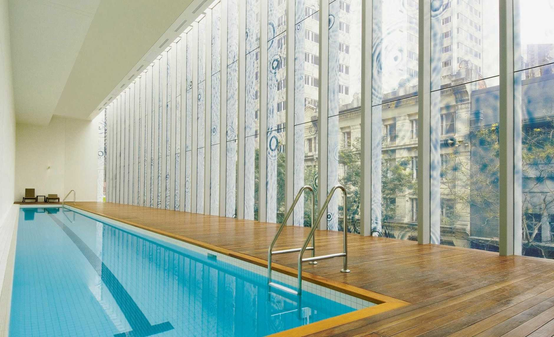 A heated indoor lap pool is perfect for a dip after a day's sightseeing.