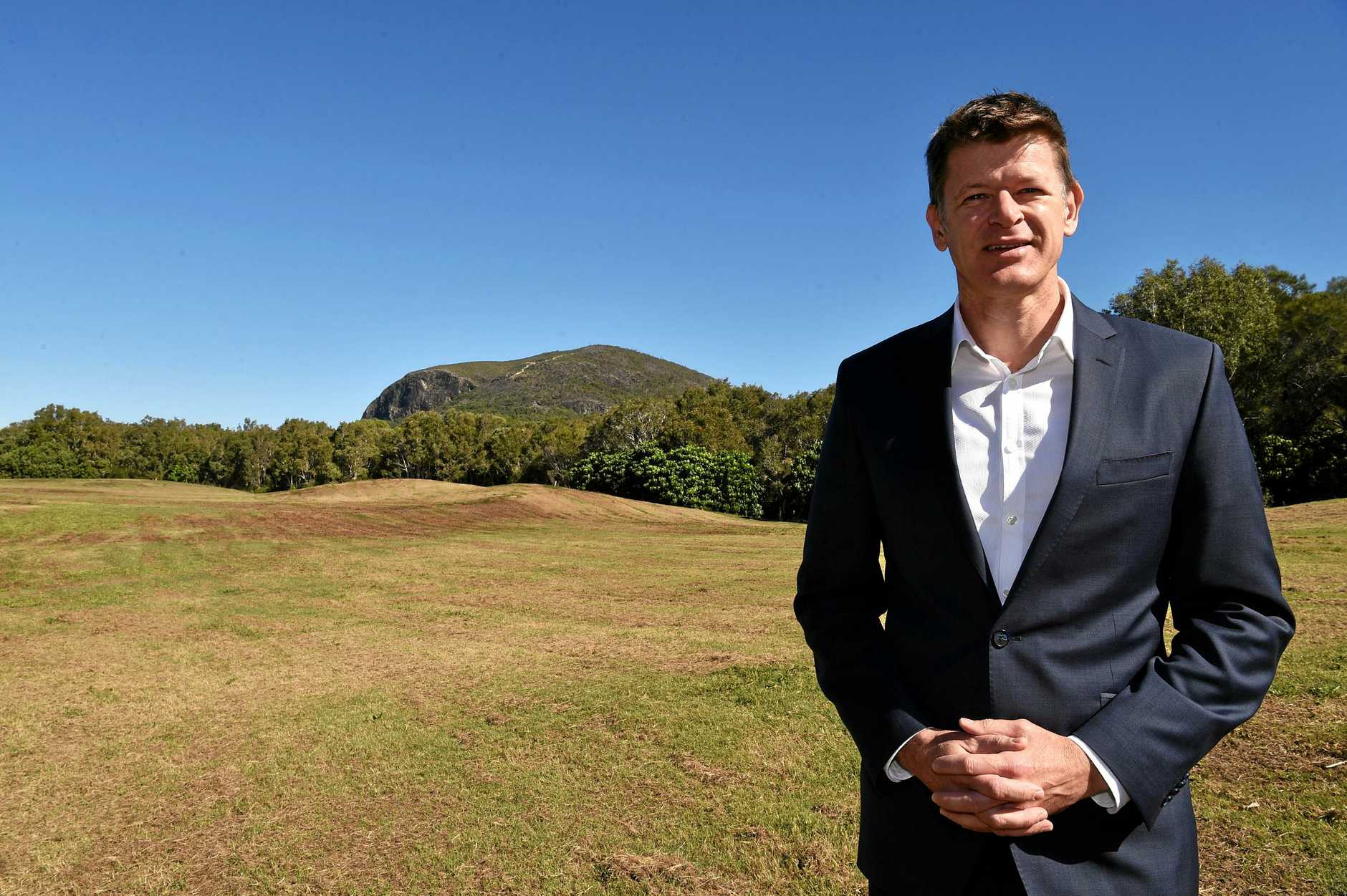 Evan Aldridge represents the company which plan to build The Westin Coolum Spa and Resort at Yaroomba Beach.