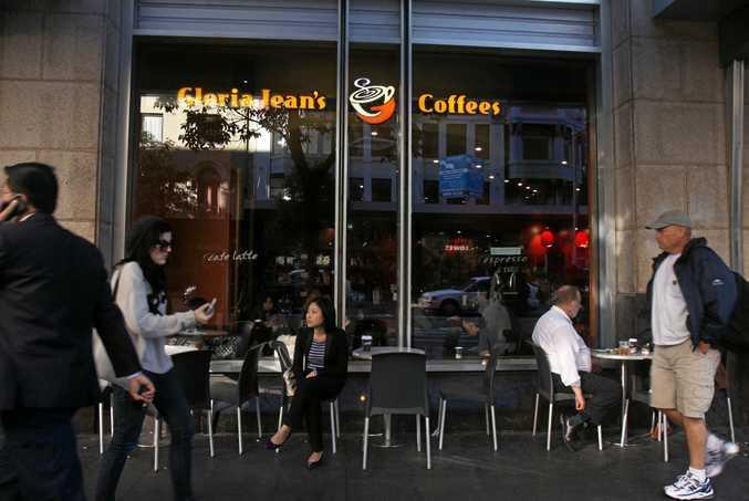 Customers at a Gloria Jean's Coffee shop.