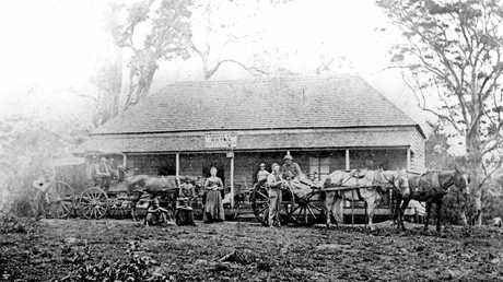 Cobb's Camp Hotel, Woombye, was a busy stopping point for travellers in 1872.
