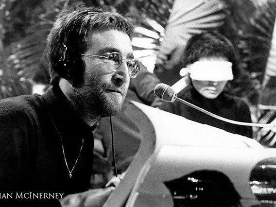 This photo of John Lennon, taken by Brian McInerney during a recording session in 1969, is one of the images on display from March 2-11 at the Kirra Hill Community Art Centre.