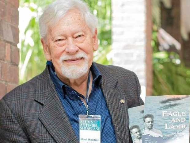 WWII TRAGEDY RETOLD: Dr Noel Kentish presents the heartbreaking story of his father, the only Australian captured by Japanese forces in Australia, in his book Eagle and Lamb at Cobb+Co Museum's Curator Conversation on Wednesday, March 7.