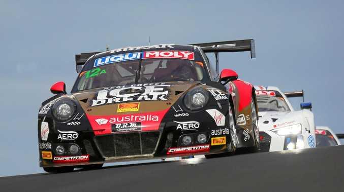 Matt Campbell races for the Porsche GT3R team during last year's Bathurst 12-hour race.