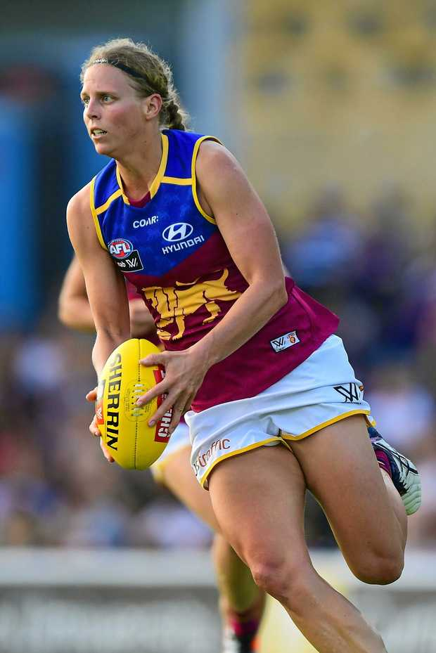 COURAGE: Kate Lutkins was a dominant force for the Brisbane Lions in the first season of AFLW.