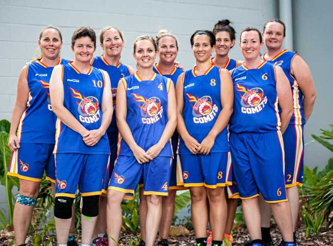 EAGER TO PLAY:  A contingent of Gympie's women basketballers played in the clippers tournament on the Sunshine Coast recently. Gympie will host a new female competiton after five years. Players who suited up for the comets are Back Left - Jo Pengelly, Jo Hose, Chloe Kraak, Yasmin Sauer, Paula Nethercott. Front Left - Kate Vietheer, Hannah Pascoe, Naomi Lally, Sonia Mackenzie.