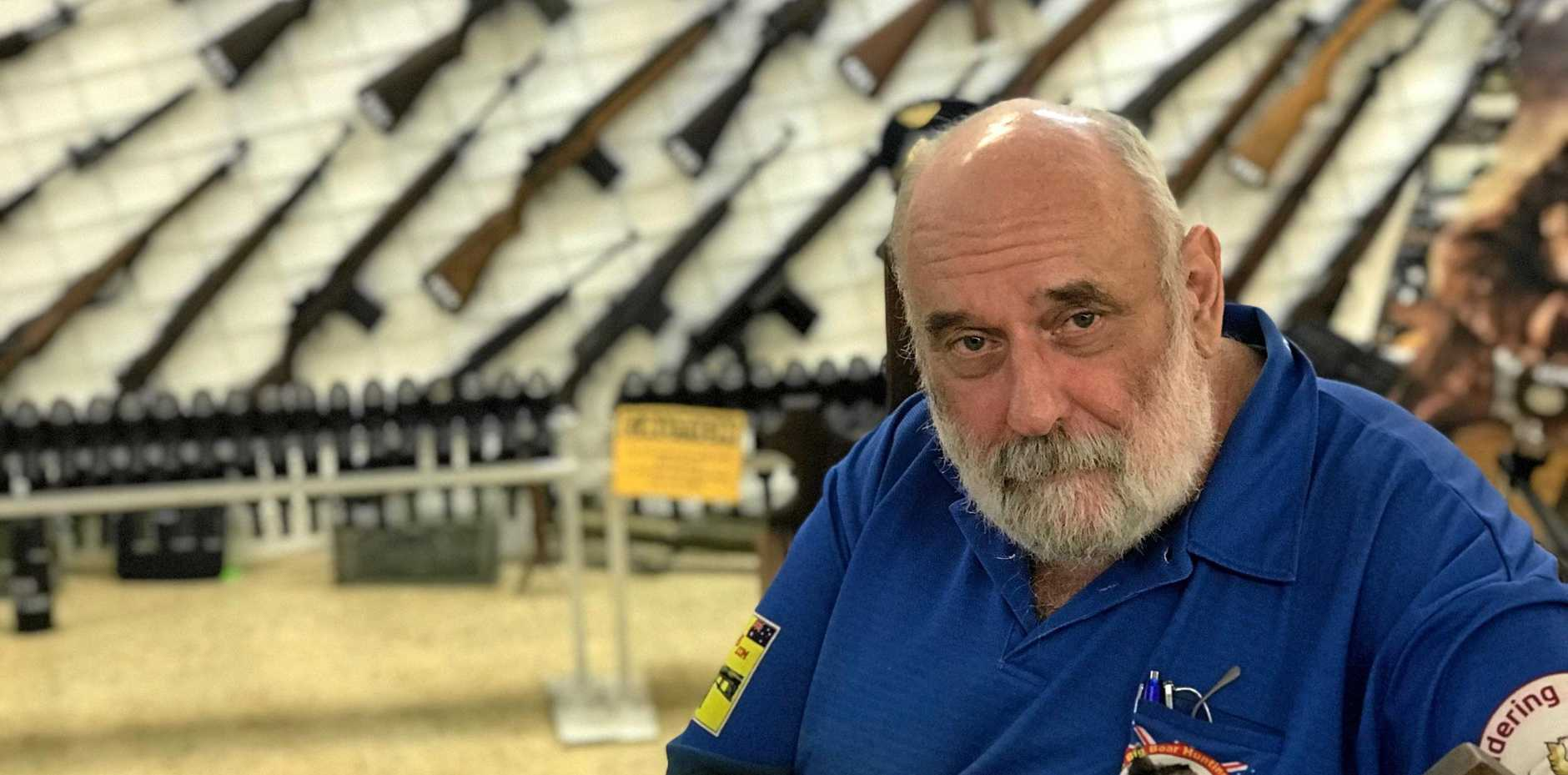 CHANGES NEEDED: Gympie gun shop owner Ron Owen says legislation needs to be geared towards business owners have the right to carry.