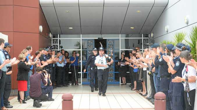 Scene of crime sgt Mick Powell's last day at work.