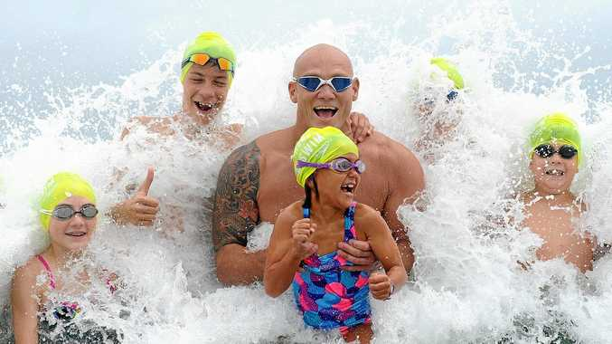 BIG SPLASH: HUNDREDS will compete in the Noosa Summer Swim this weekend including Michael Klim.