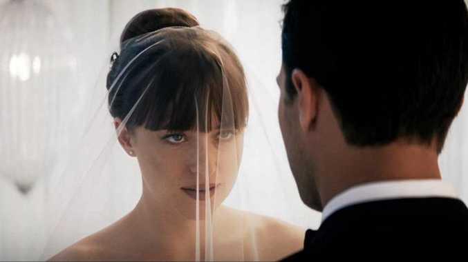 STARS: Dakota Johnson and Jamie Dornan in Fifty Shades Freed.
