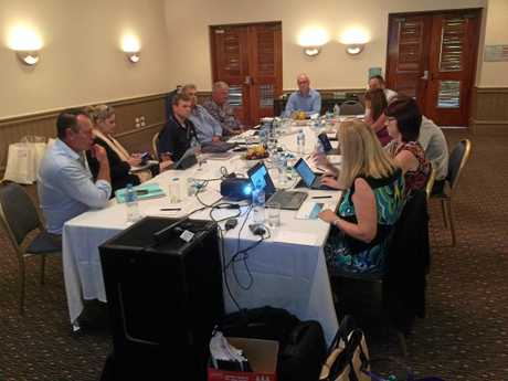 Local Government Association of Queensland board members meet at Twin Waters.