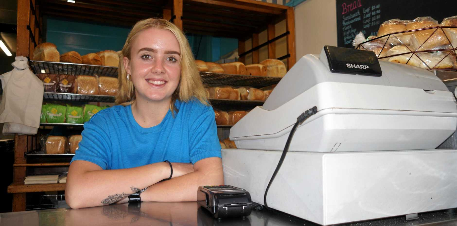 JOB SUCCESS: Jessica Hailey found employment at the Kent St Bakery after almost a year of job hunting across the Fraser Coast. The State Government's Back to Work program assisted with her job find.
