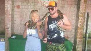 Diaz with Hayden Garner who she allegedly assaulted.