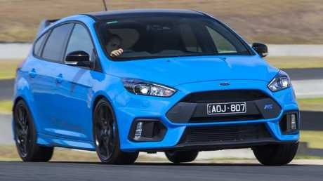 The Ford Focus RS LE was built for track work. Picture: Mark Bean.