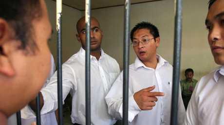 Bali Nine kingpins Myuran Sukumaran and Andrew Chan who wrote to Ms Diaz from Kerobokan prison to her prison with threats. Picture: Lukman S Bintoro