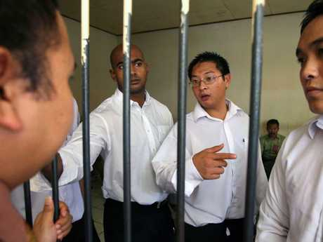 Bali Nine kingpins Myuran Sukumaran and Andrew Chan who wrote to Ms Diaz from Kerobokan prison to her prison with threats. Picture: Lukman S Bintoro