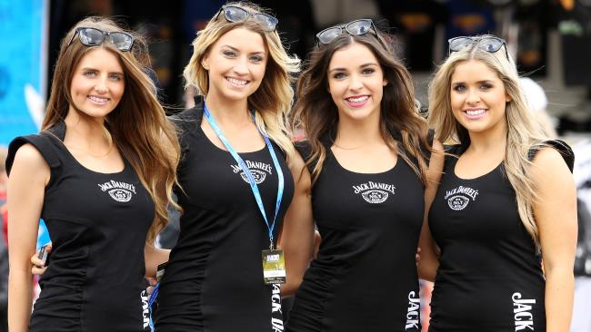 The grid girls at the track. Picture: Tim Hunter.