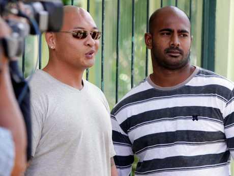 Andrew Chan and Myuran Sukumaran in Kerobokan prison in Bali in 2011. Picture: Firdia Lisnawati.