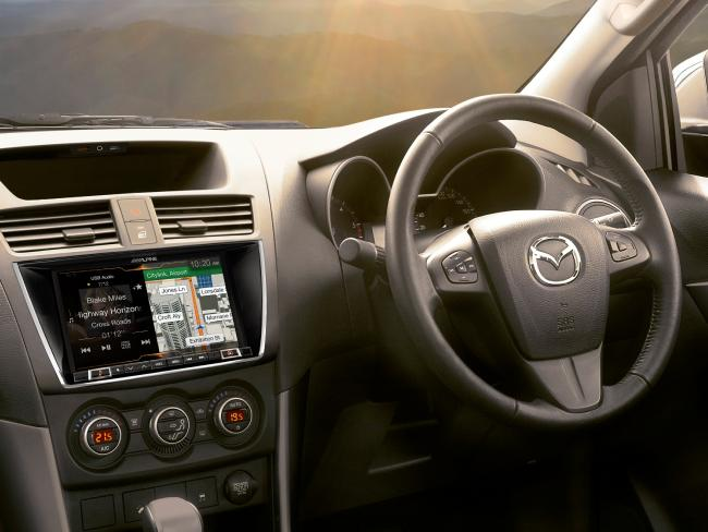 The BT-50's interior is starting to show its age against newer rivals.