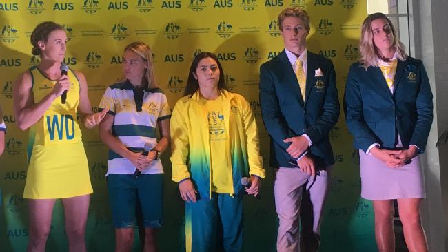 The 2018 Commonwealth Games Australian team uniforms have been revealed. Picture: Greg Stolz