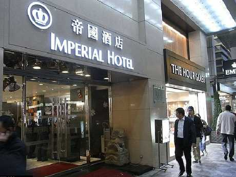 The Imperial Hotel in Hong Kong's Tsim Sha Tsui district where Diaz was arrested.