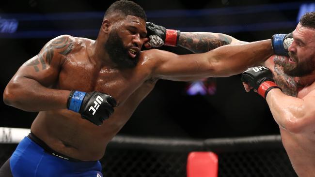 Curtis Blaydes' wrestling poses a big problem for Hunt. Picture: Getty Images/AFP
