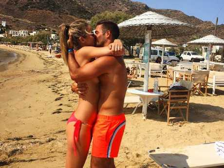 Vogue Williams and Spencer Matthews have gotten engaged. Picture: @voguewilliams/Instagram