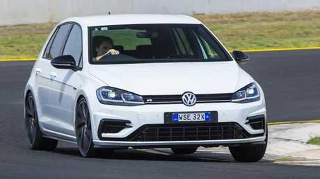 The VW Golf R Grid Edition lacks the grip to go with its grunt. Picture: Mark Bean.